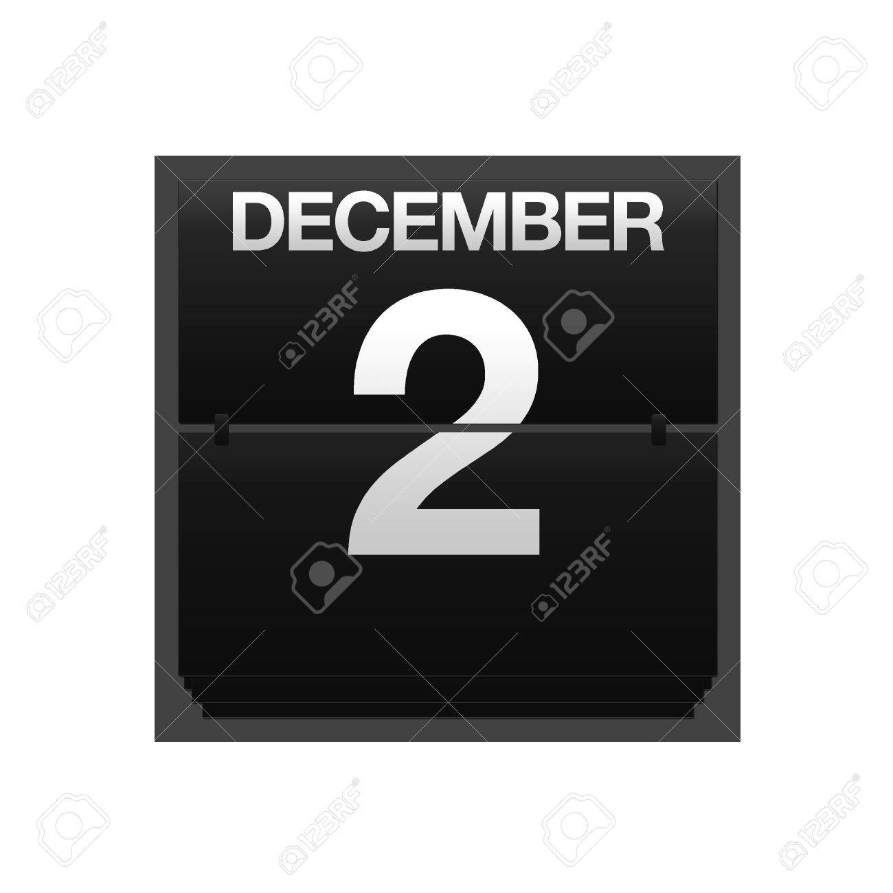 Illustration with a counter calendar december 2 Stock Photo - 15633126