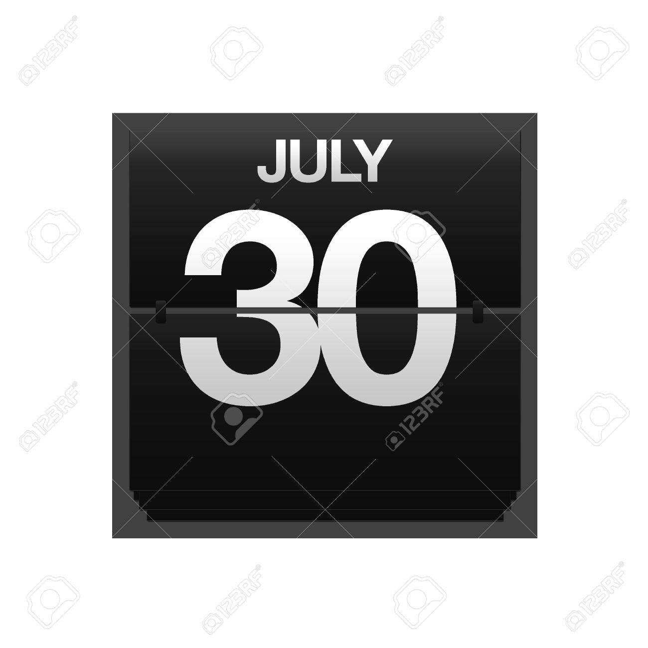 Illustration with a counter calendar july 30 Stock Photo - 15667617