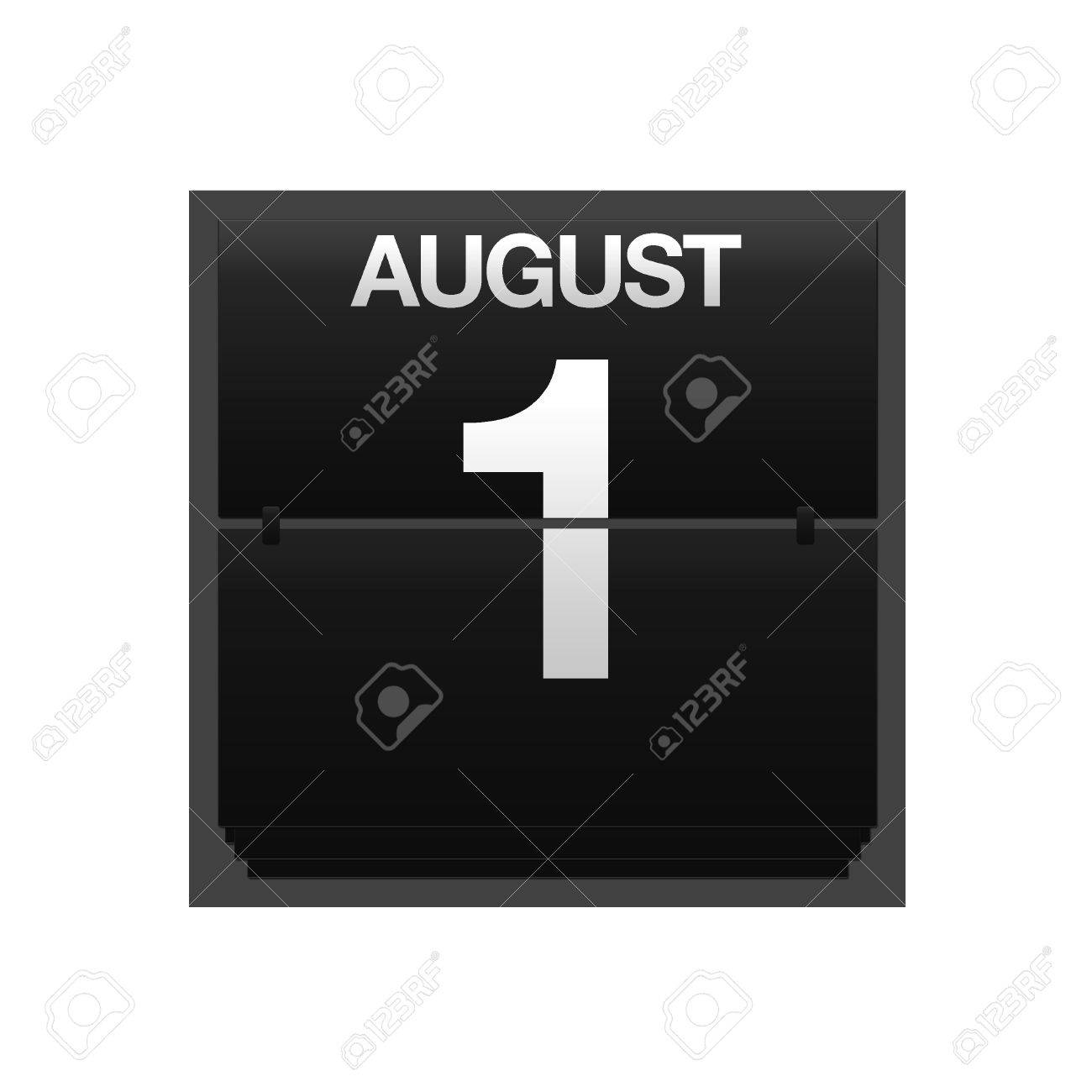 Illustration with a counter calendar august 1 Stock Photo - 15707402