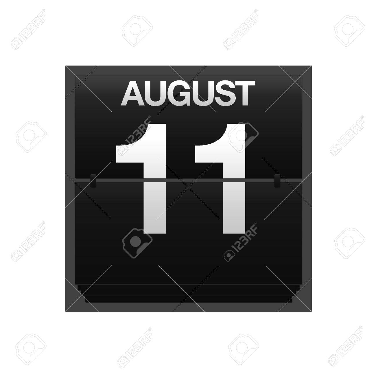 Illustration with a counter calendar august 11 Stock Photo - 15707409
