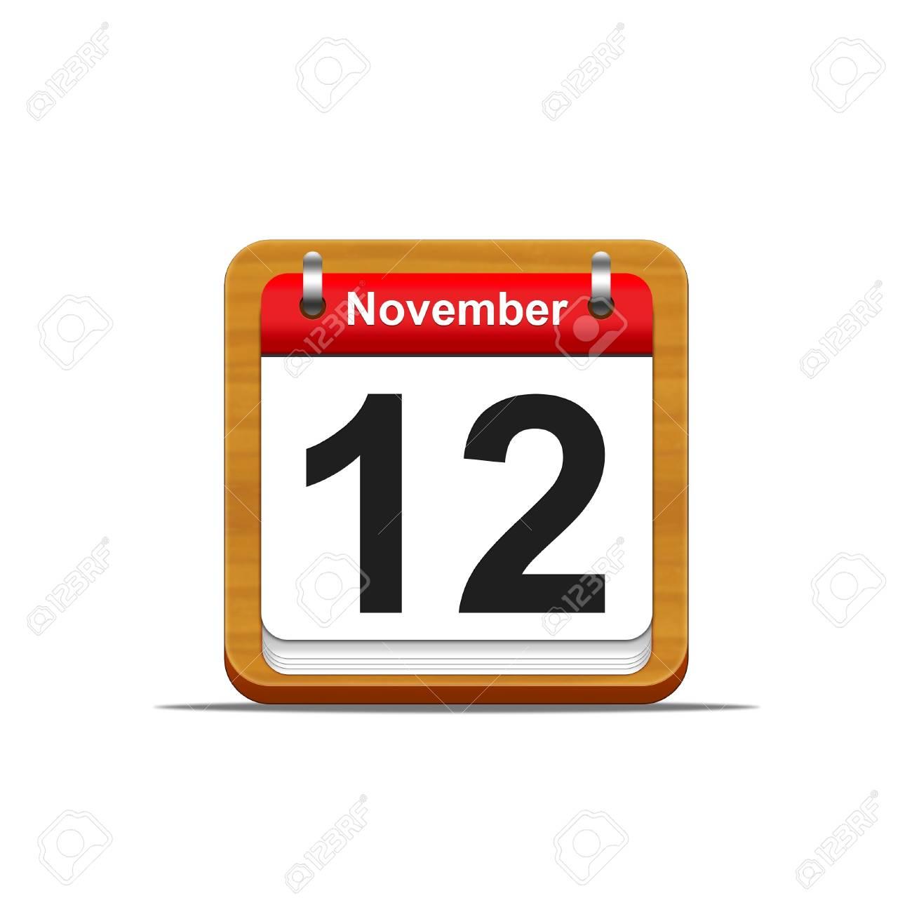 Illustration elegant wooden calendar on white background Stock Illustration - 16139830