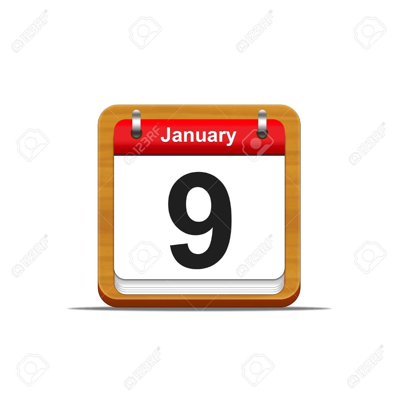 Illustration elegant wooden calendar on white background Stock Photo - 16182110