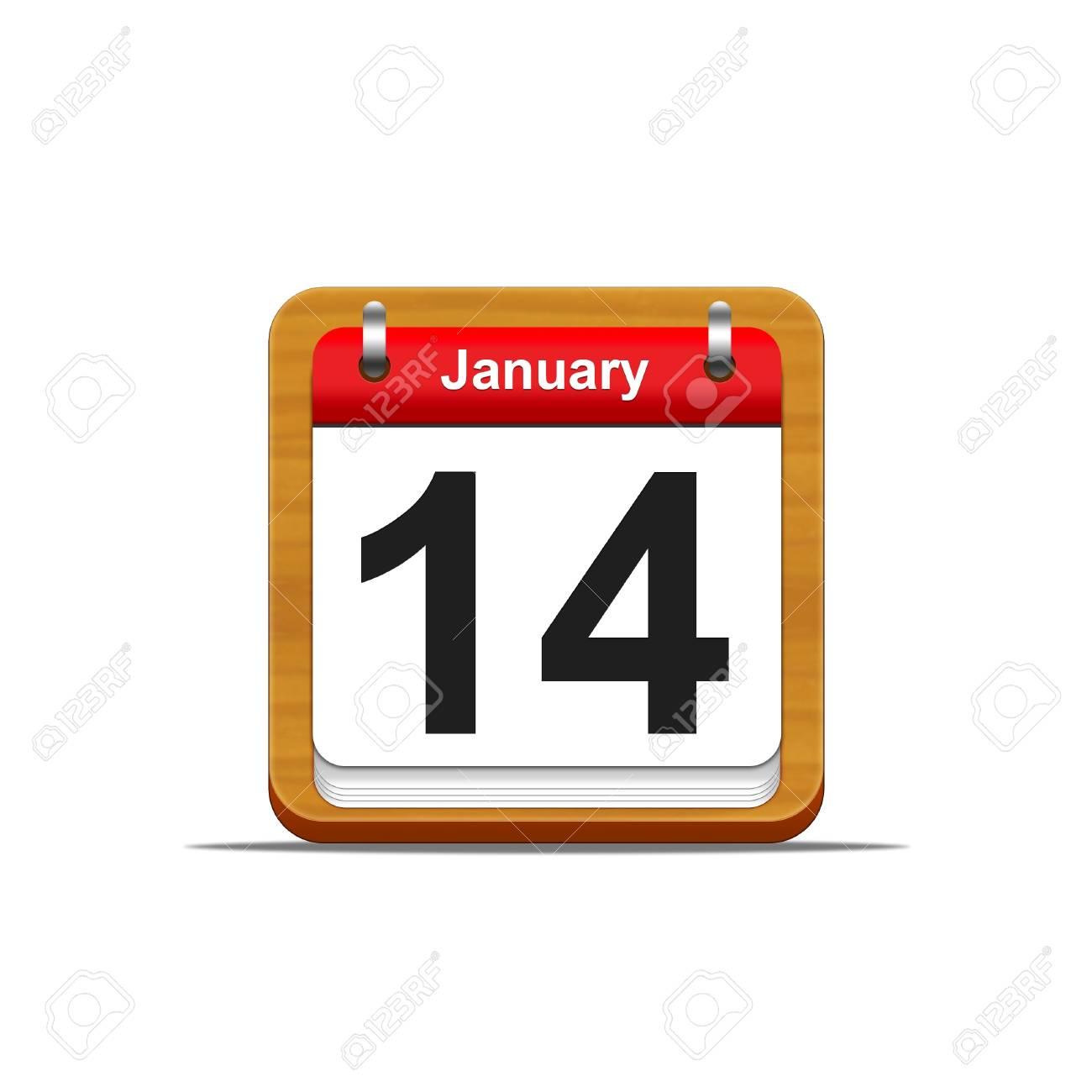 Illustration elegant wooden calendar on white background Stock Illustration - 16182105