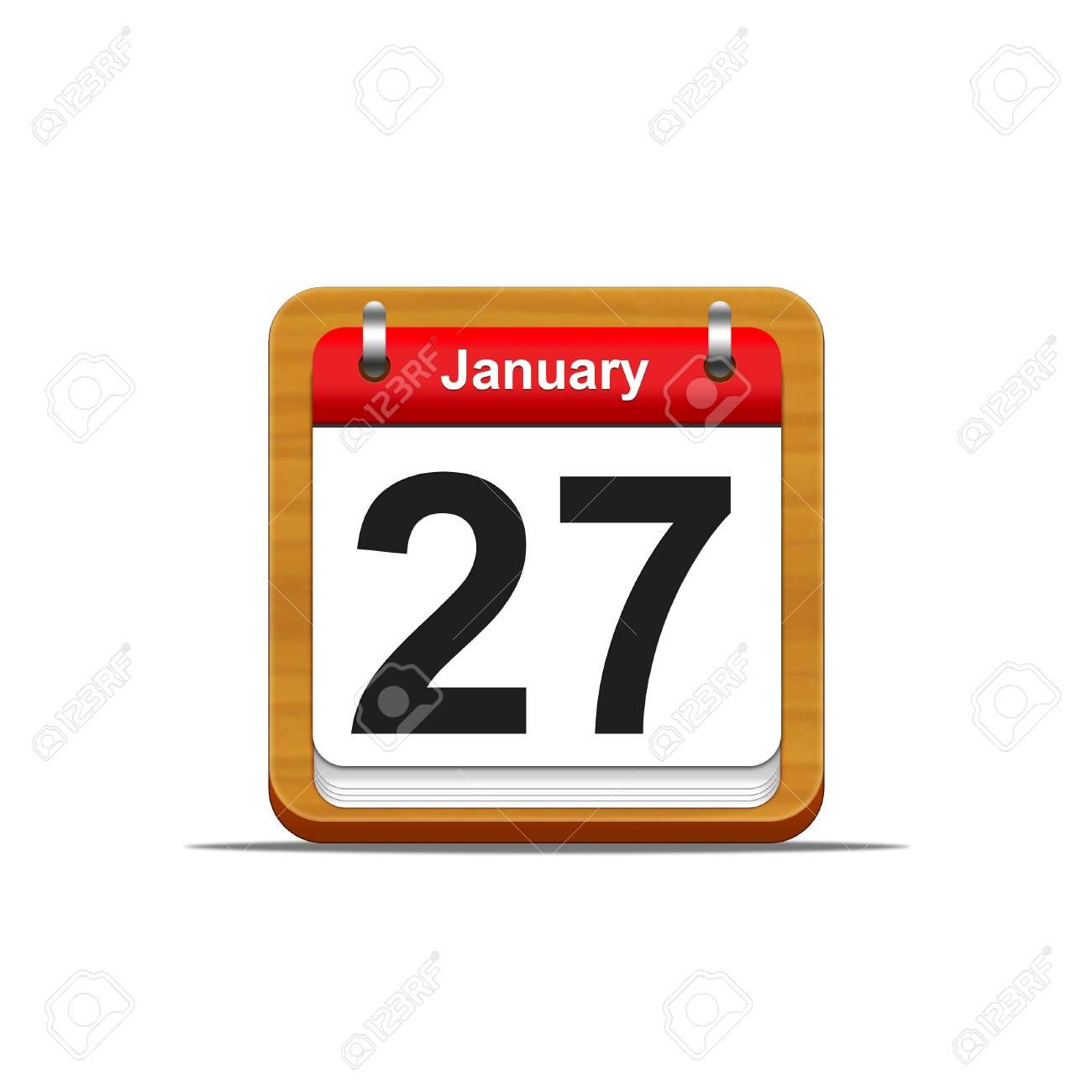 Illustration elegant wooden calendar on white background Stock Photo - 16182267