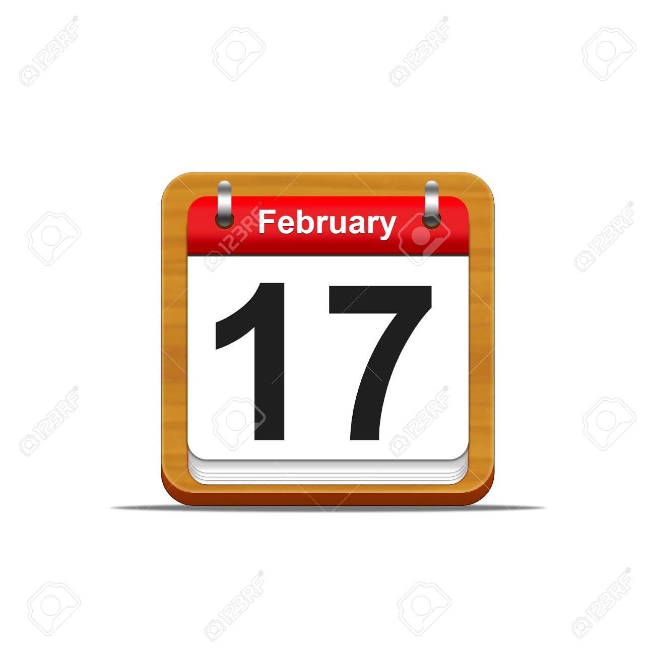 Illustration elegant wooden calendar on white background Stock Illustration - 16182238
