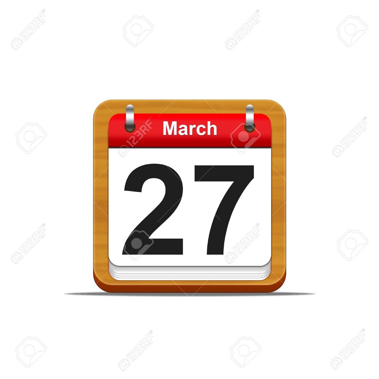 Illustration elegant wooden calendar on white background Stock Illustration - 16182249