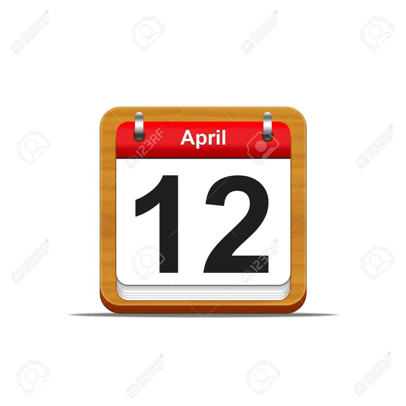 Illustration elegant wooden calendar on white background Stock Illustration - 16182222