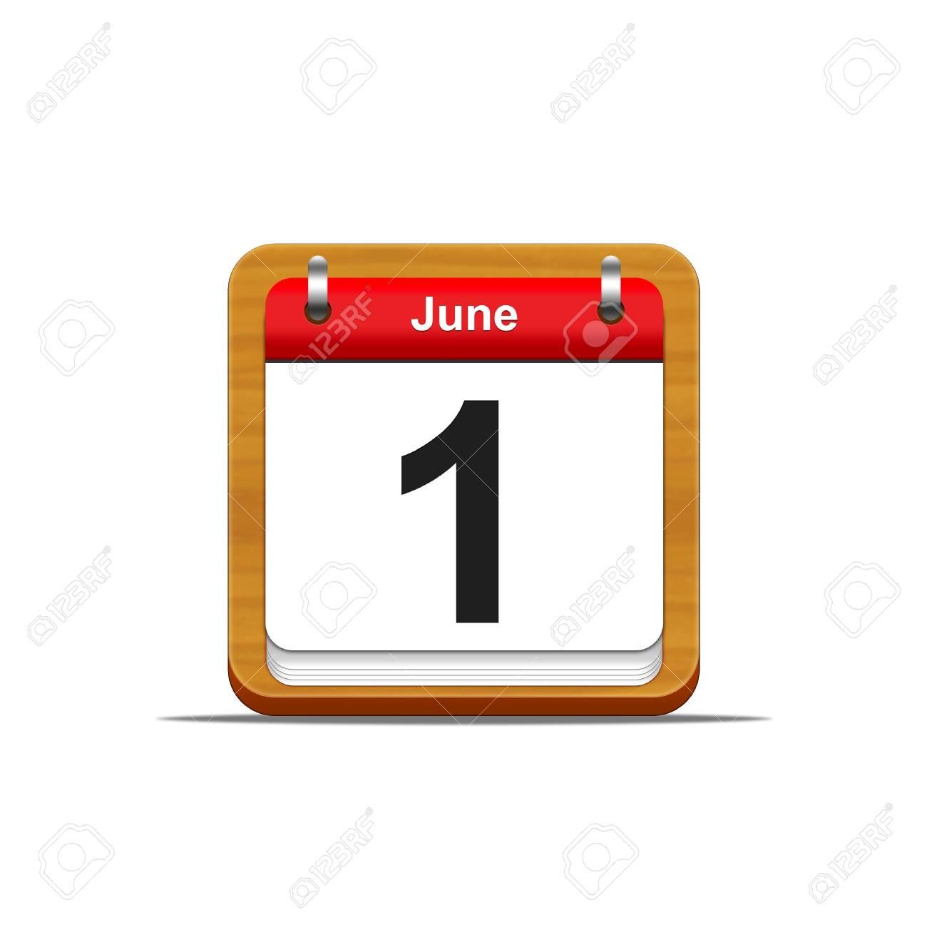 Illustration elegant wooden calendar on white background Stock Photo - 16226683