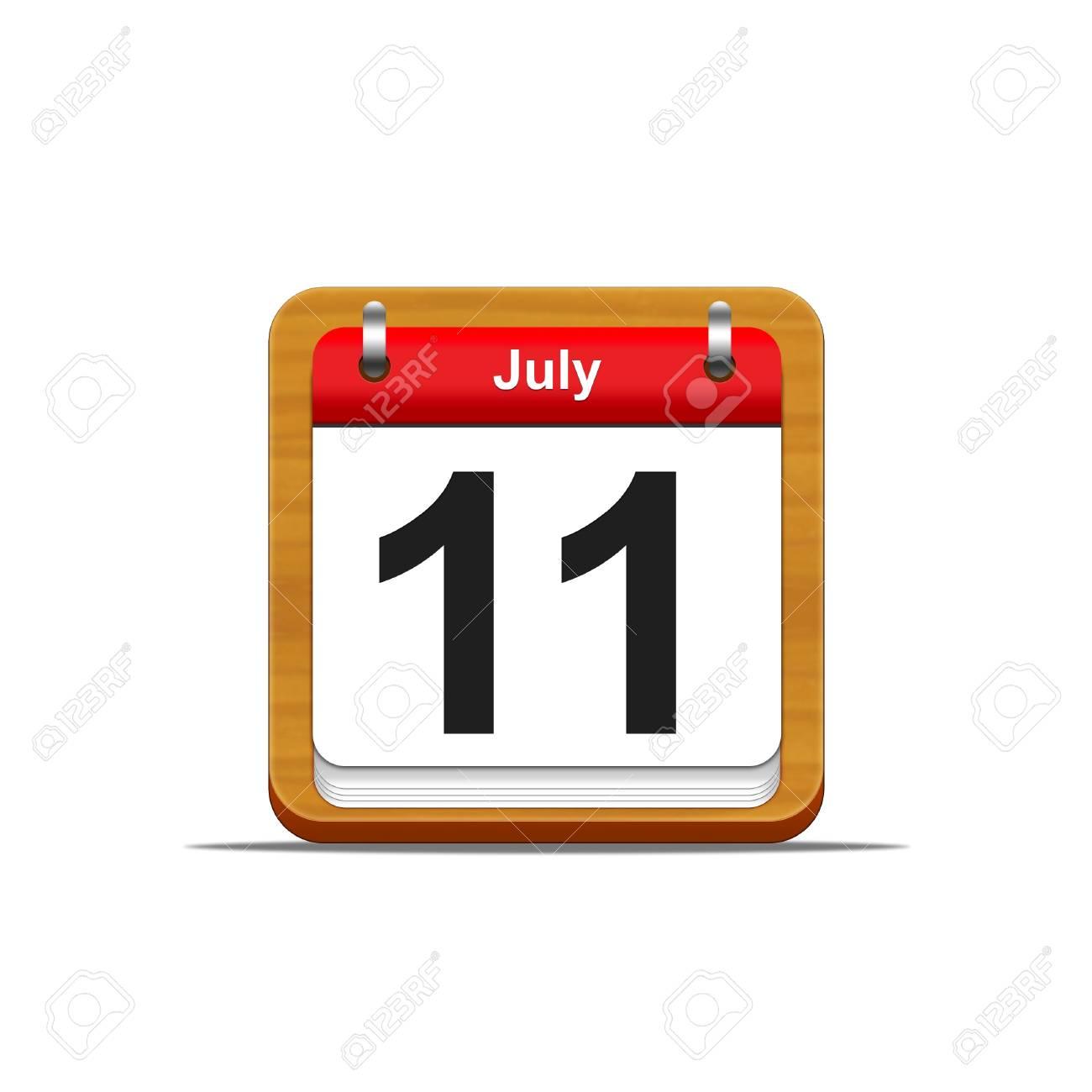 Illustration elegant wooden calendar on white background Stock Photo - 16227099
