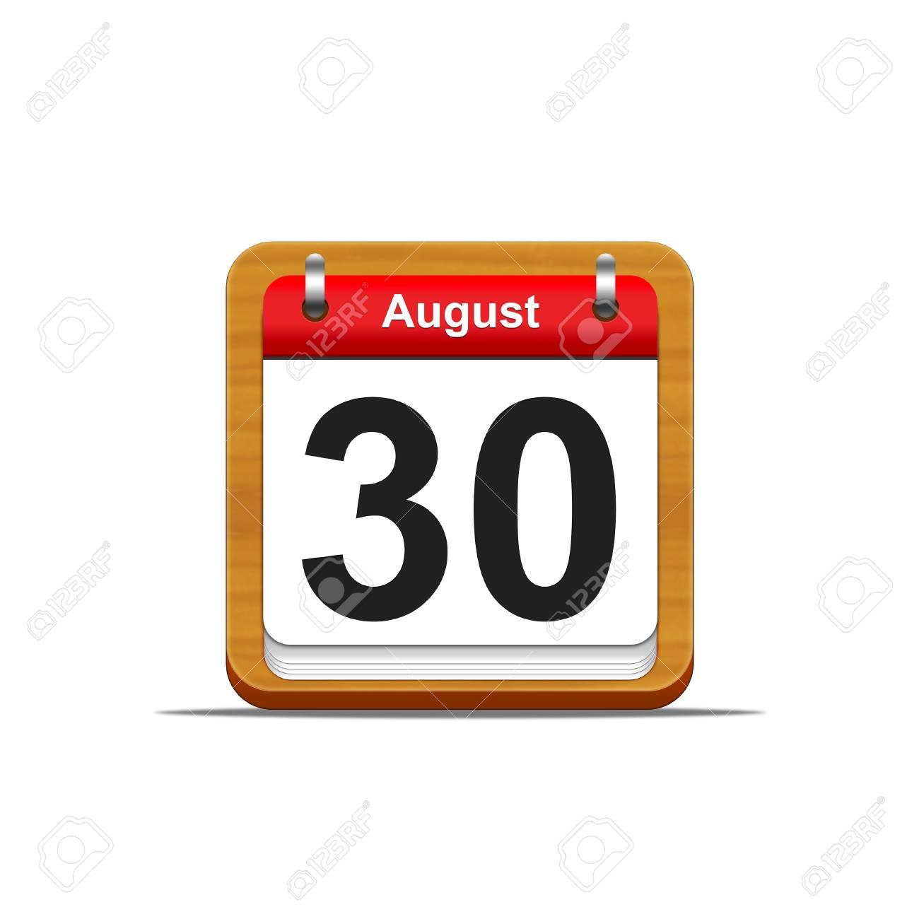 Illustration elegant wooden calendar on white background Stock Illustration - 16227286