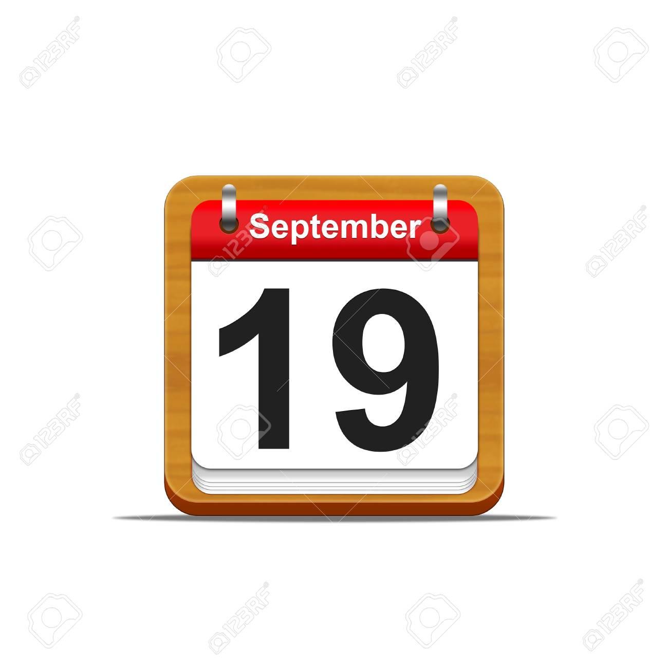 Illustration elegant wooden calendar on white background Stock Illustration - 16227295