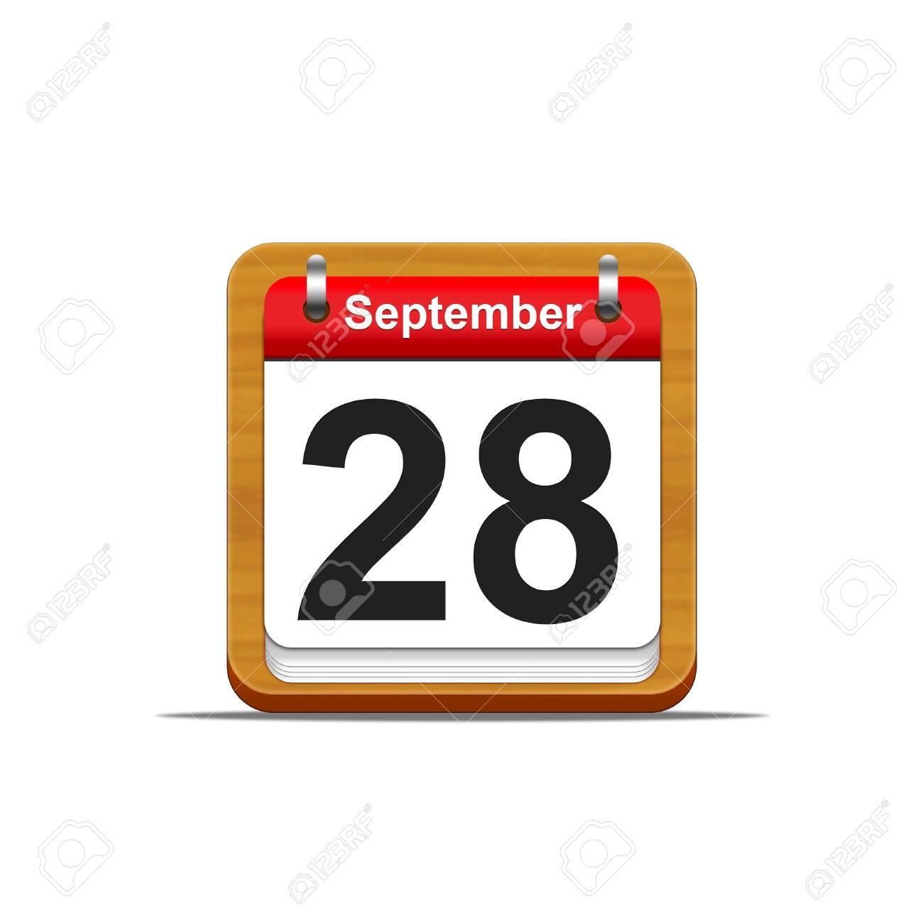 Illustration elegant wooden calendar on white background Stock Illustration - 16227320