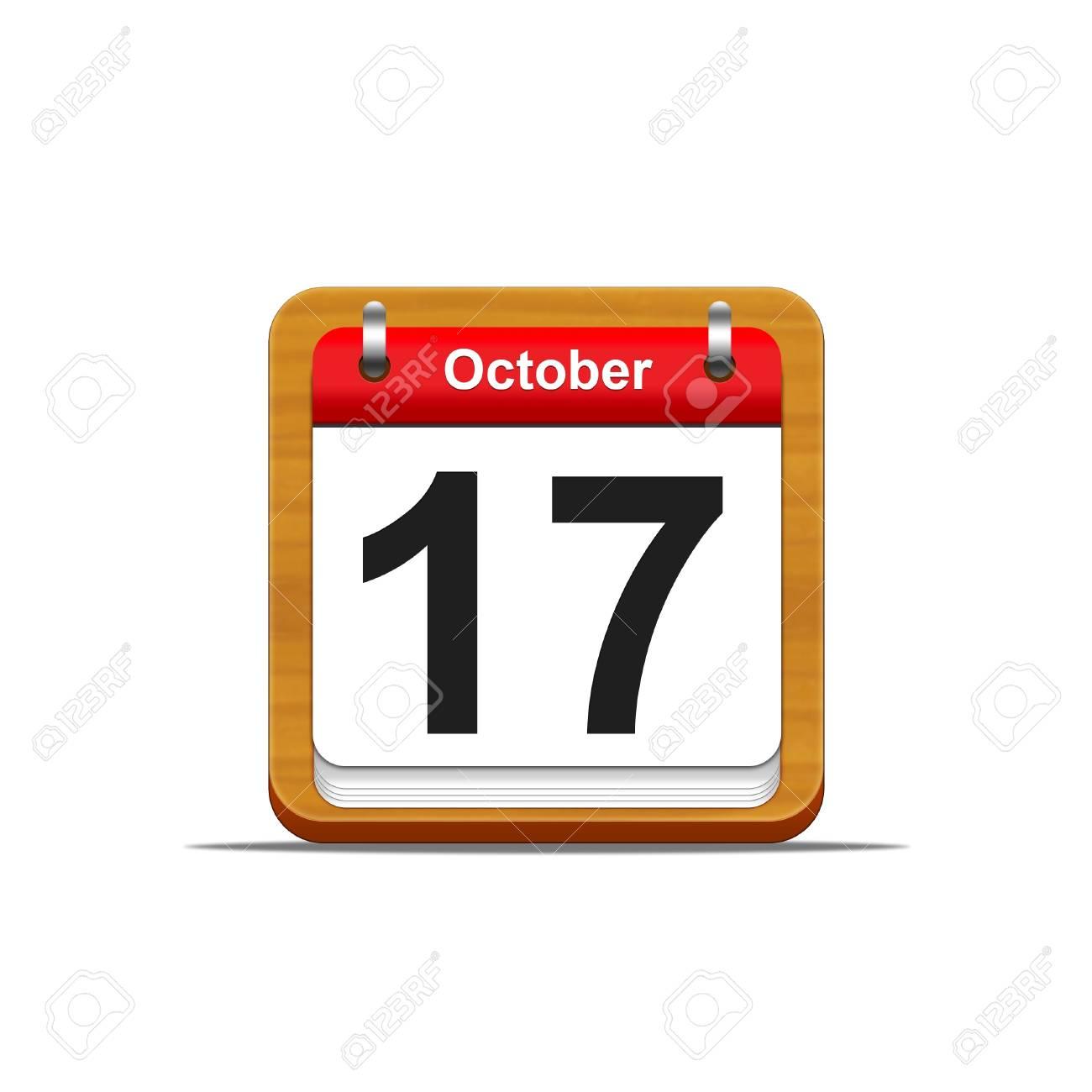 Illustration elegant wooden calendar on white background Stock Illustration - 16227238