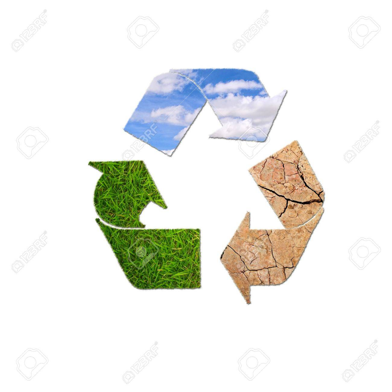 Illustration with sign recycle planet on  white background Stock Photo - 16470963