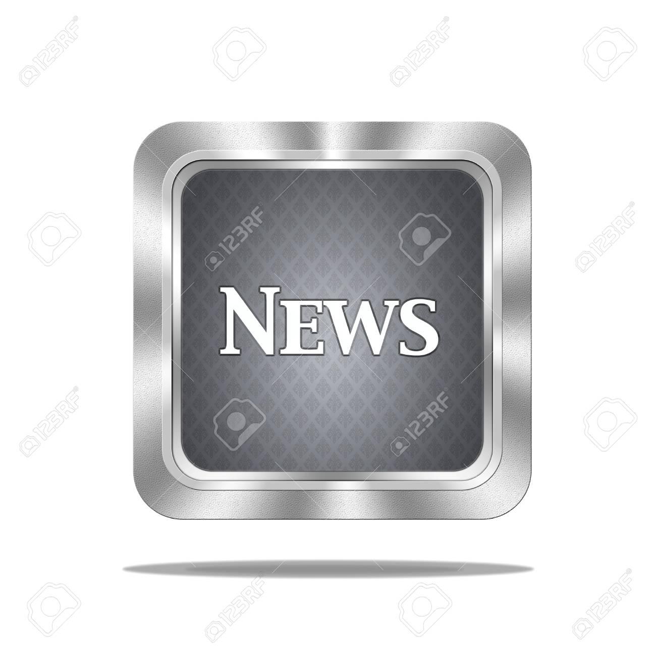 Aluminum frame illustration with news signal on white background Stock Photo - 16612581