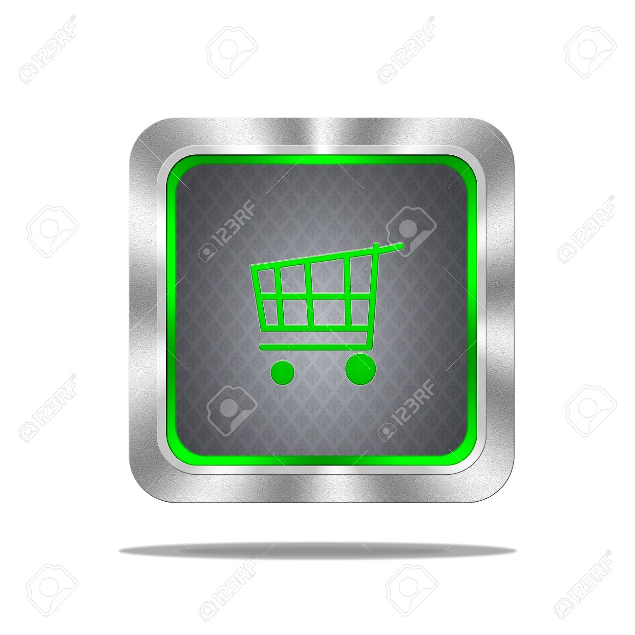 Aluminum frame illustration with cart signal on white background Stock Illustration - 16665101