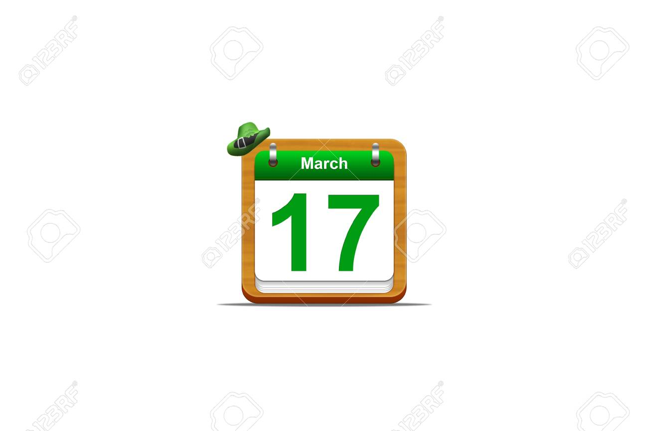 Illustration with a St Patrick day calendar Stock Photo - 16905537