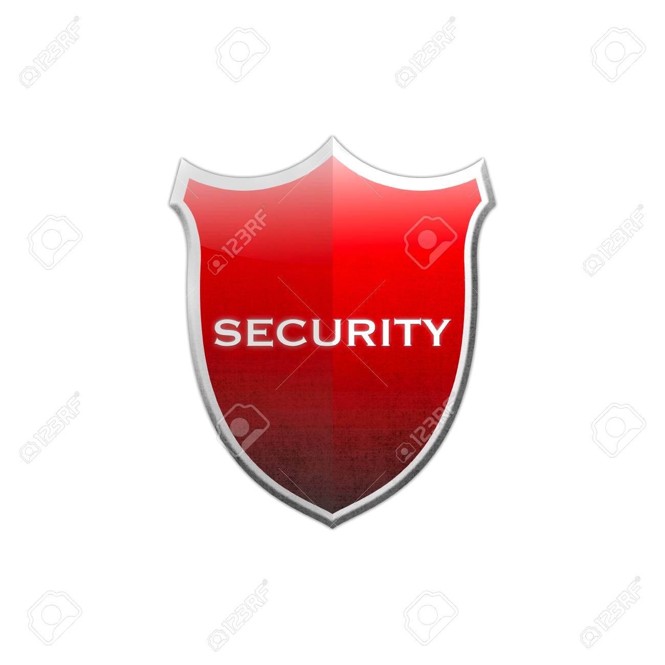 Illustration with security shield on white background Stock Illustration - 17031410