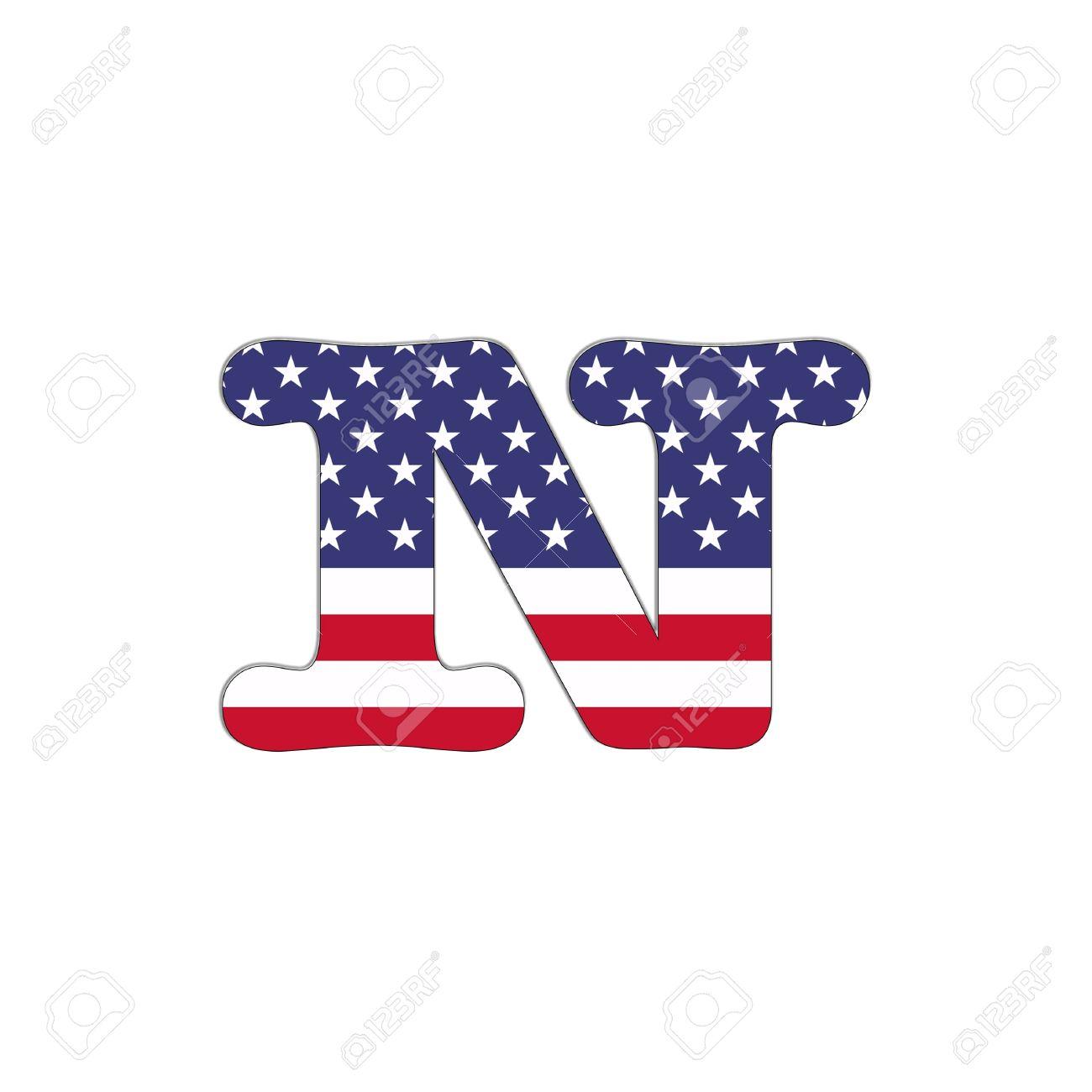 イラスト文字 N アメリカ Abc フラグ白い背景の上で の写真素材画像