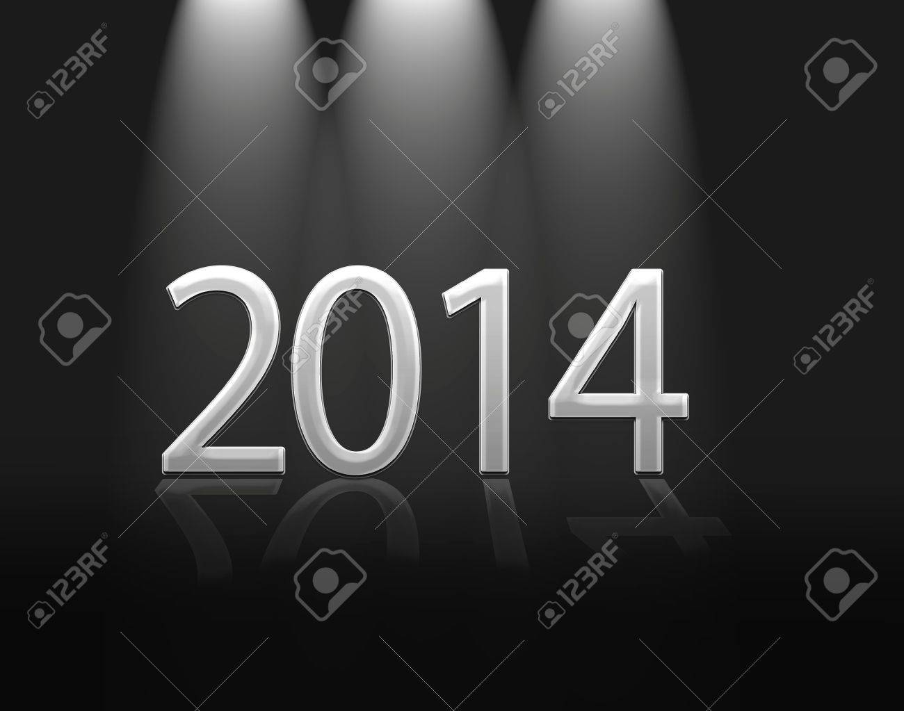 Illustration with a metal sign  calendar 2014 Stock Illustration - 22882957