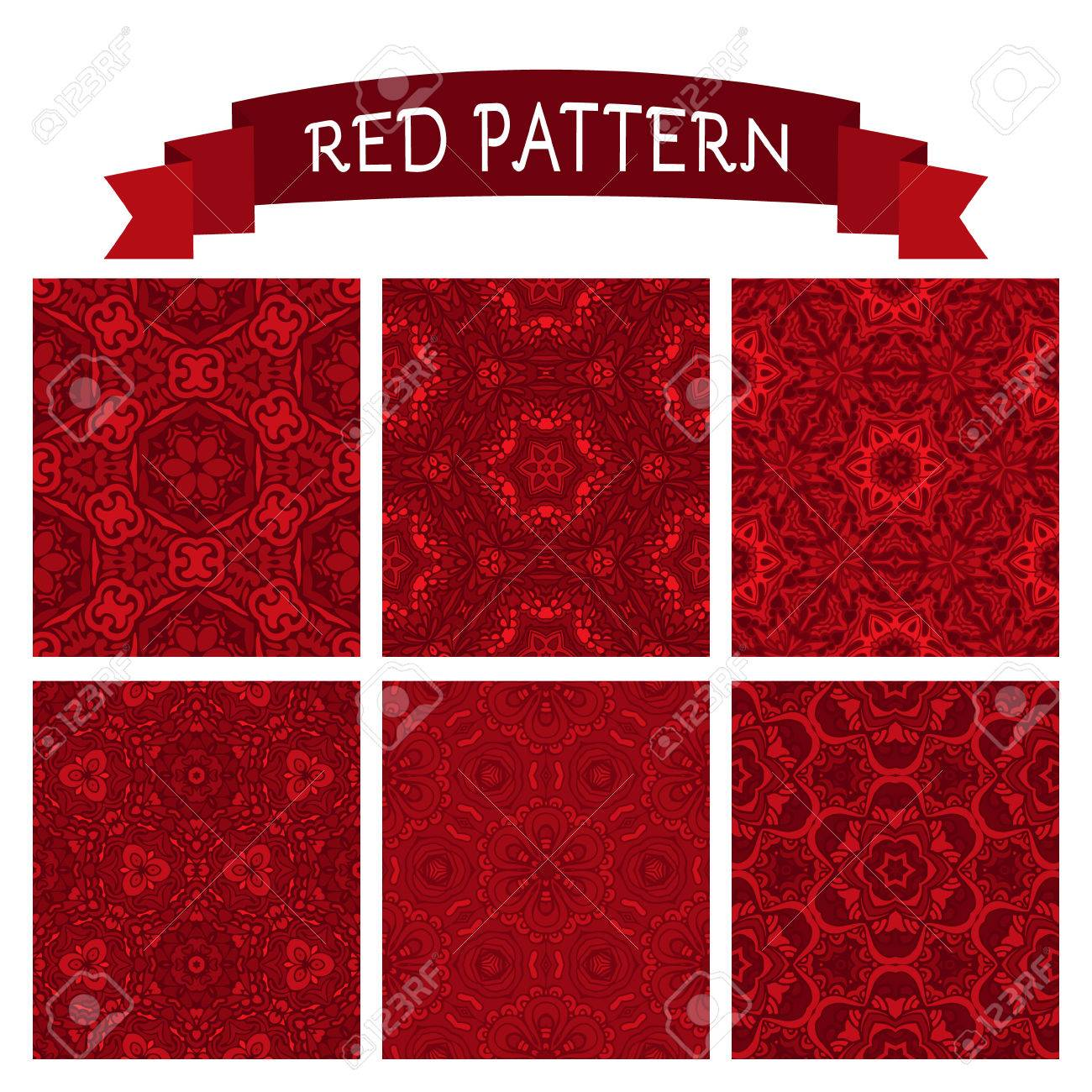 Christmas Embroidery Patterns Free.Set Of Christmas Embroidery Patterns In Red Perfect For Wallpapers