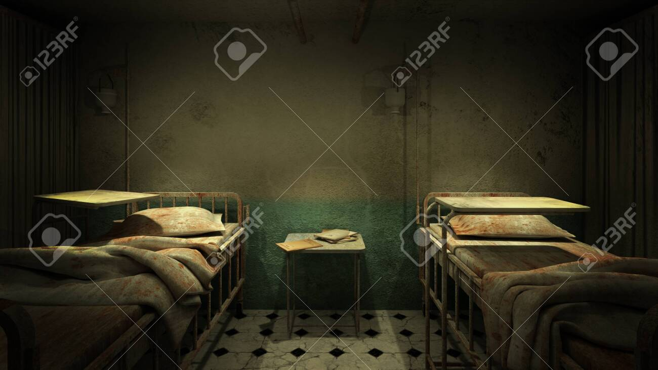 Horror And Creepy Ward Room In The Hospital 3d Rendering Stock Photo Picture And Royalty Free Image Image 150063282