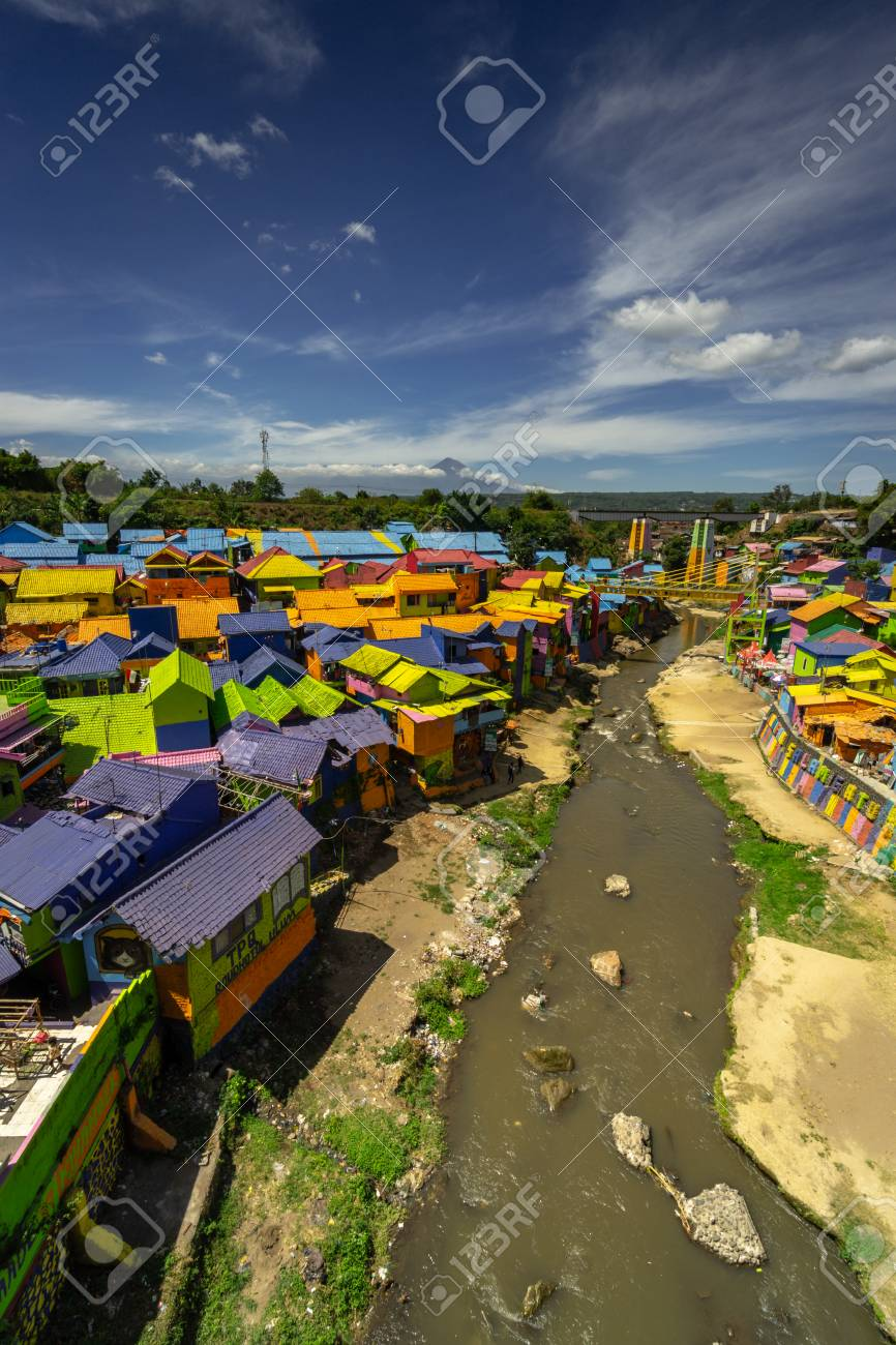 Landmark Of Malang City In East Java Indonesia Colorful Village Stock Photo Picture And Royalty Free Image Image 117656689