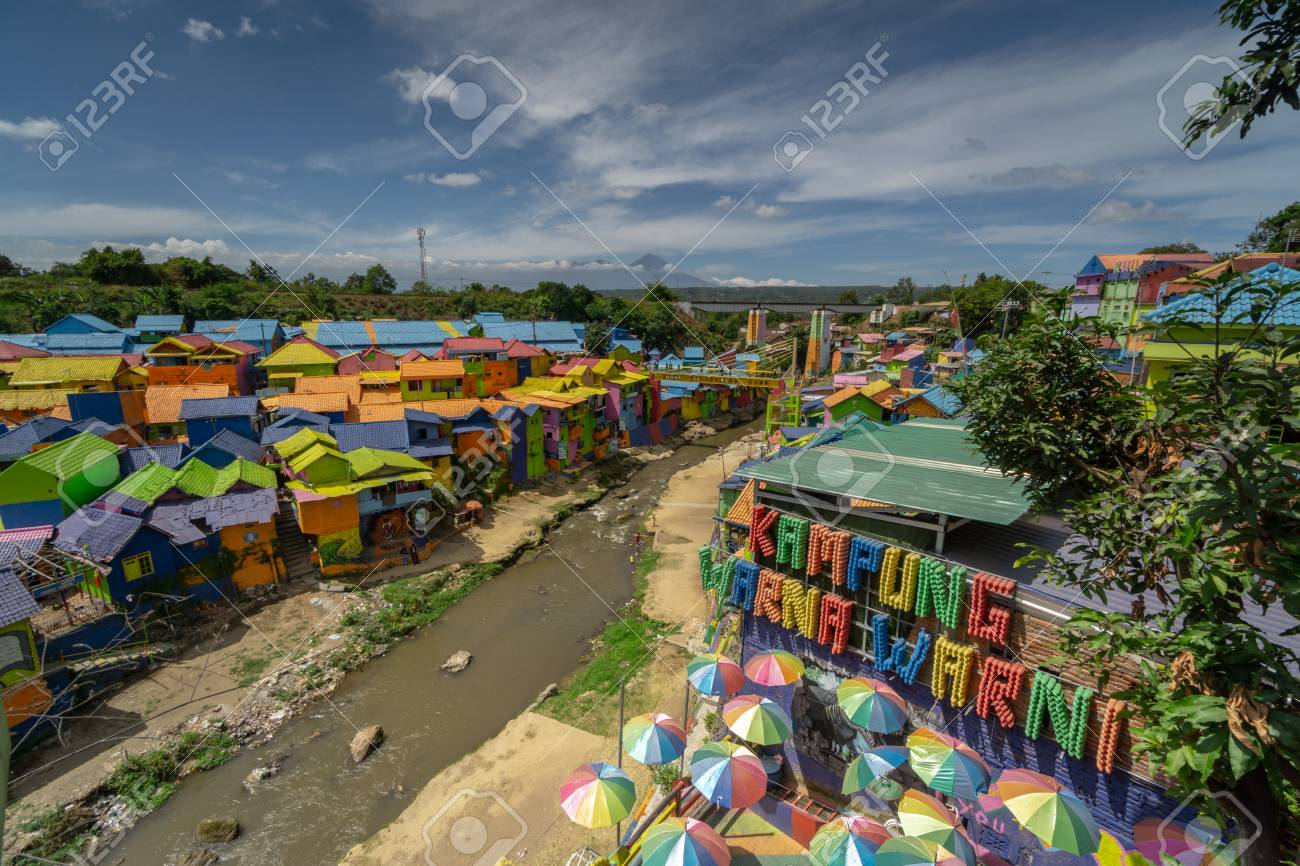 Landmark Of Malang City In East Java Indonesia Colorful Village Stock Photo Picture And Royalty Free Image Image 117656692