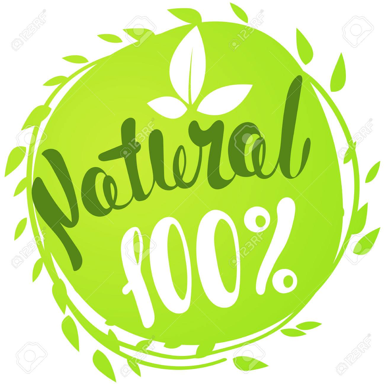 100 natural with leaves natural product organic healthy food
