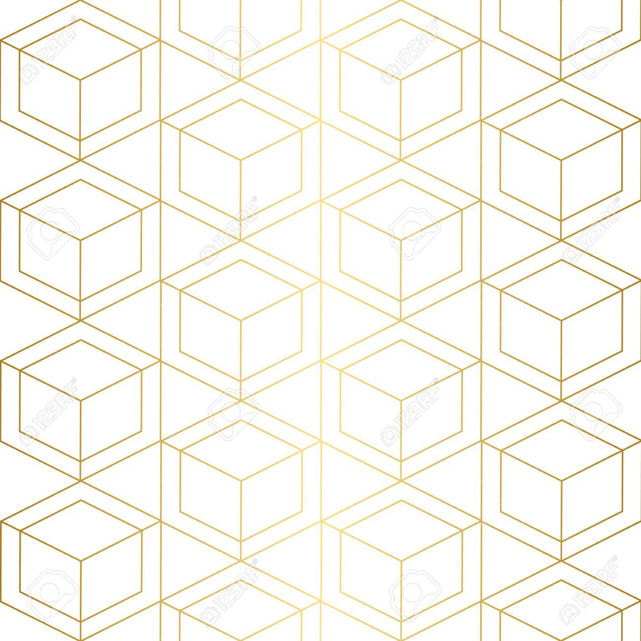 Textura Dorada Patrones Geométricos Sin Fisuras. Fondo Dorado Patrón ...