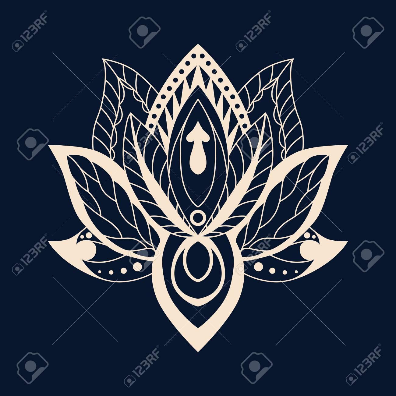 Lotus Mandala Vector Ornamental Lotus Ethnic Zentang Ornamental