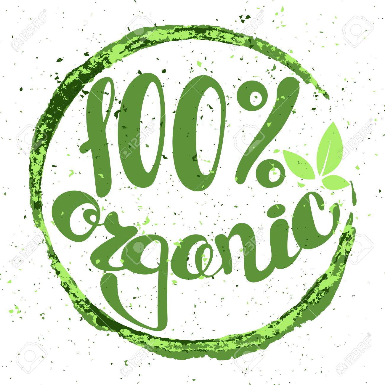 logo 100 organic with leaves natural product organic healthy