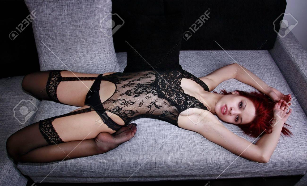 13032797-beautiful-redhead-model-in-body