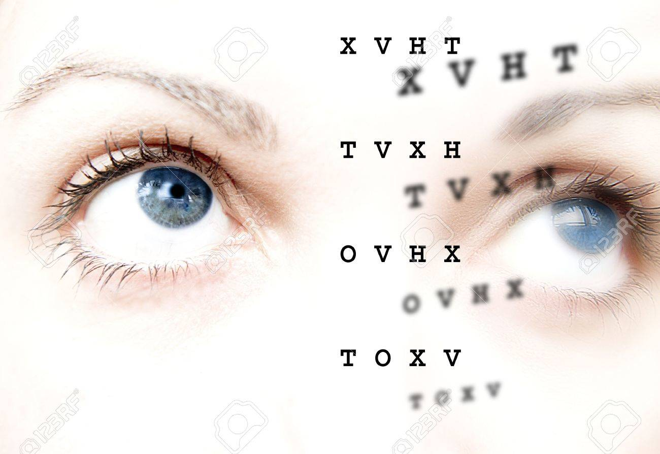 Before and after, care and review of the eyes Stock Photo - 13522591