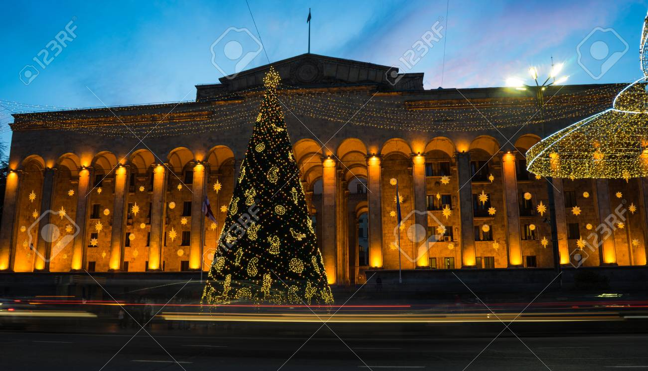Christmas In Georgia Tbilisi.Georgia Tbilisi Christmas And New 2018 Year Illumination