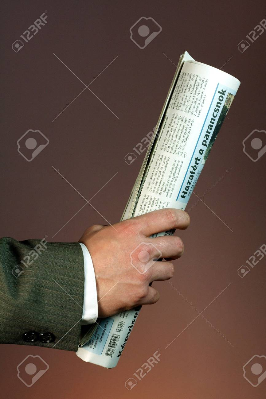 Businessman with newspaper Stock Photo - 736196