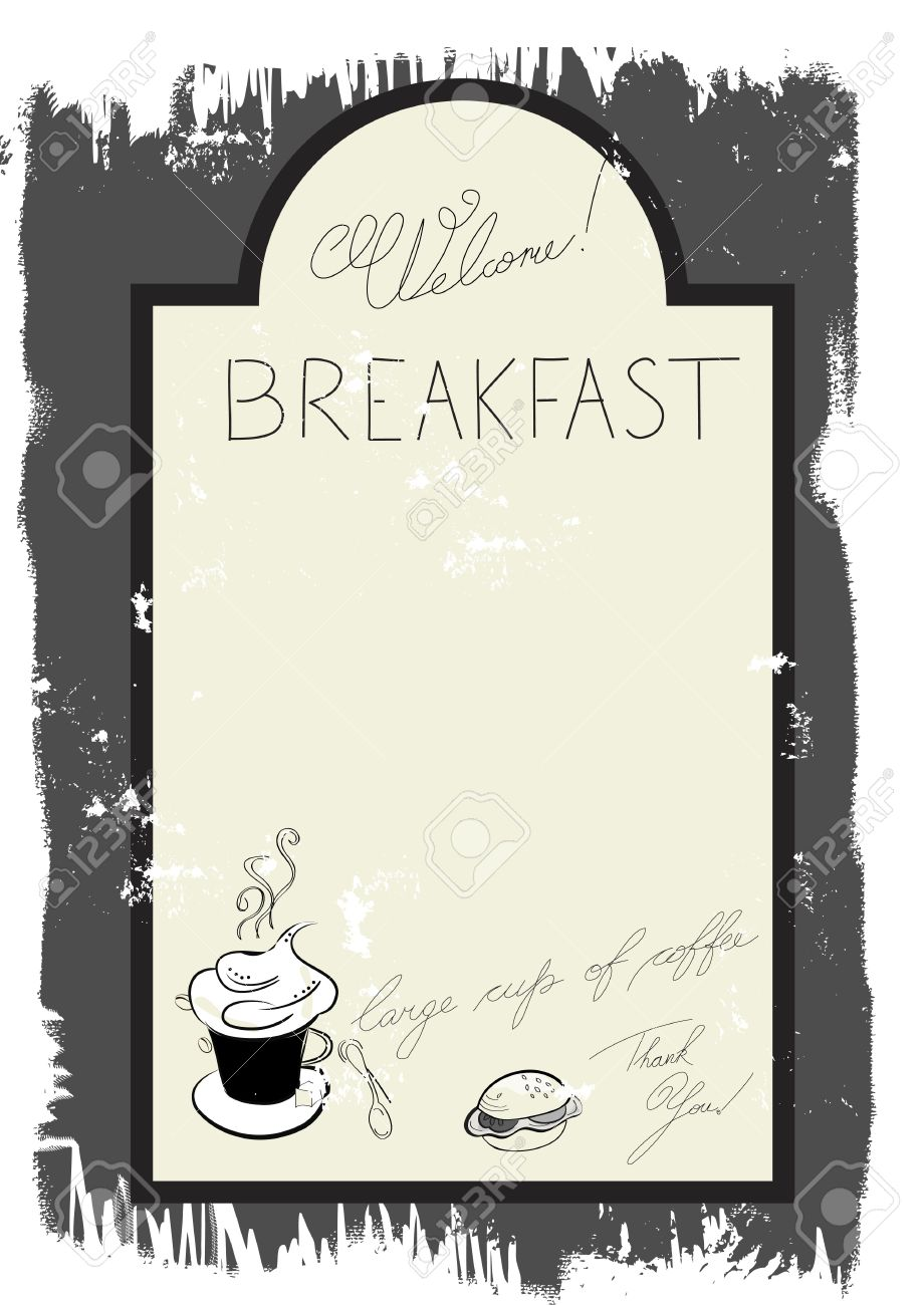 Template For Breakfast Menu Stock Vector   7315287  Breakfast Menu Template