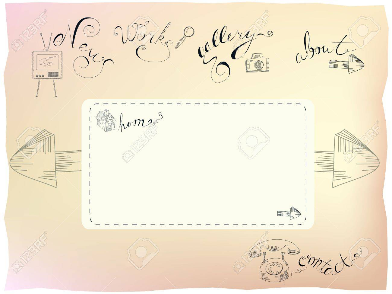 Template for web design Stock Vector - 8216743