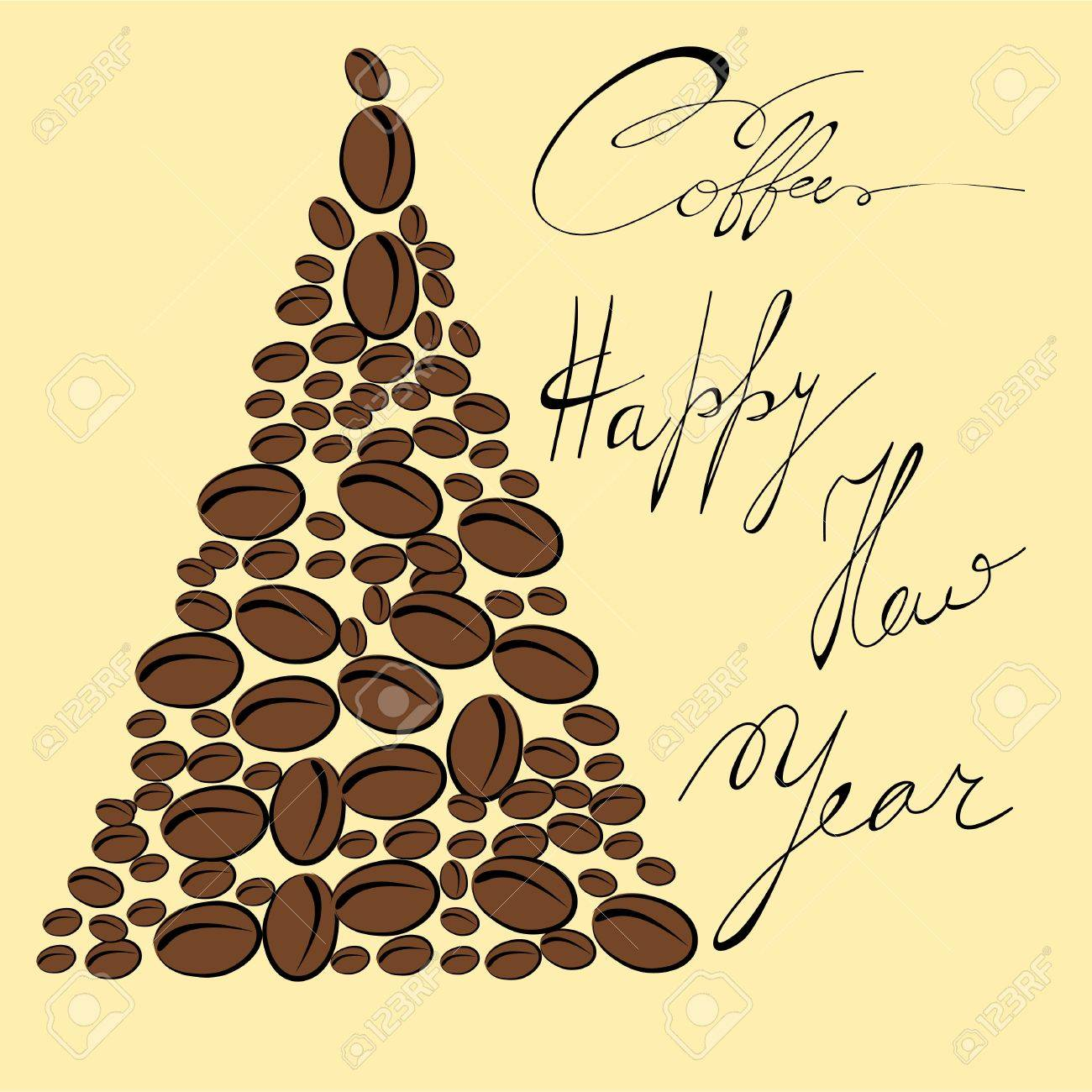 Greeting card with coffee bean Stock Vector - 8283533