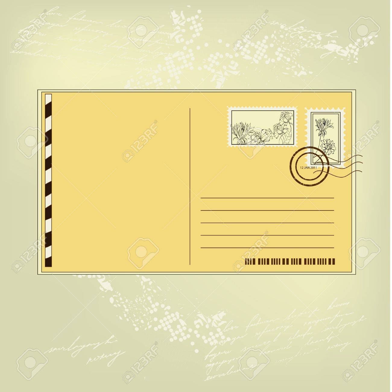 Postcard Stock Vector - 8606806