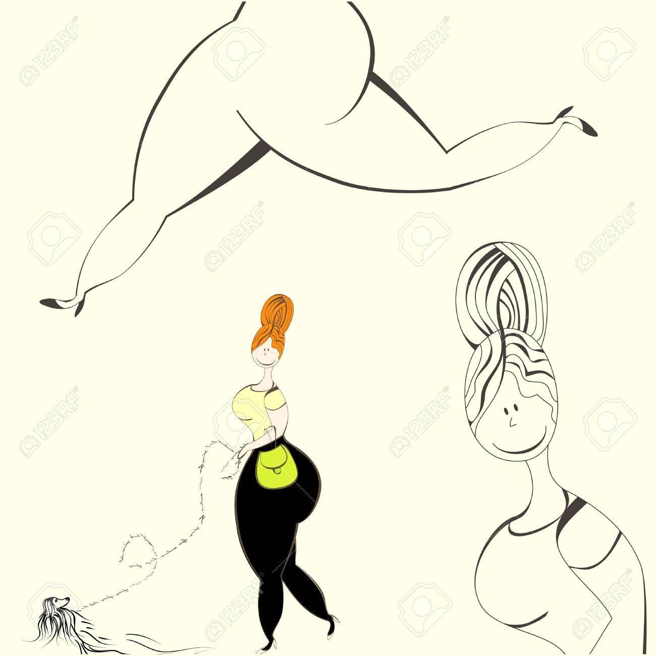 Illustration of woman Stock Vector - 9513418