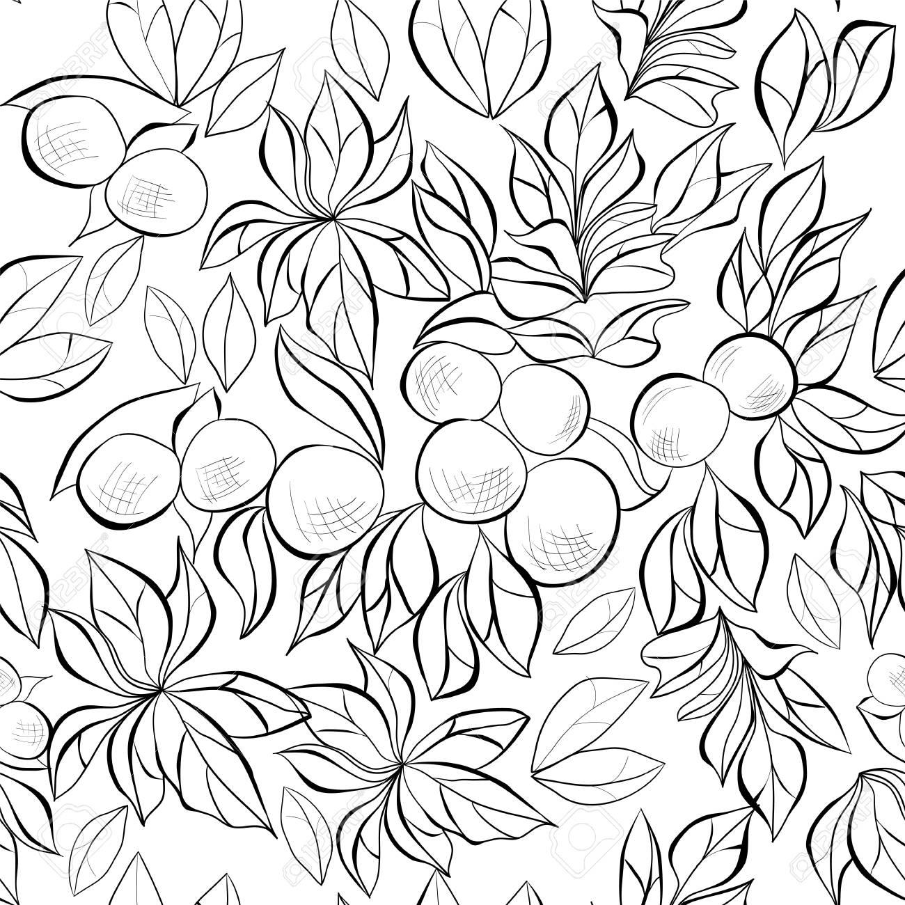 Monochrome seamless wallpaper Stock Vector - 11917482