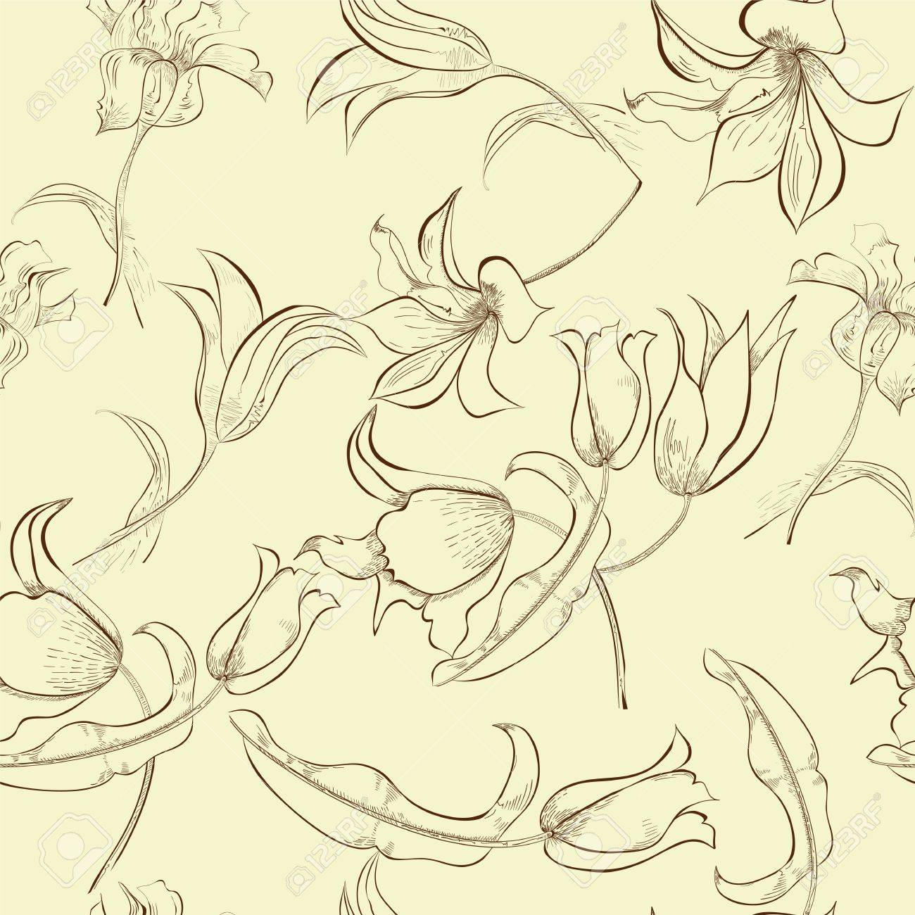 Floral seamless pattern Stock Vector - 13553260