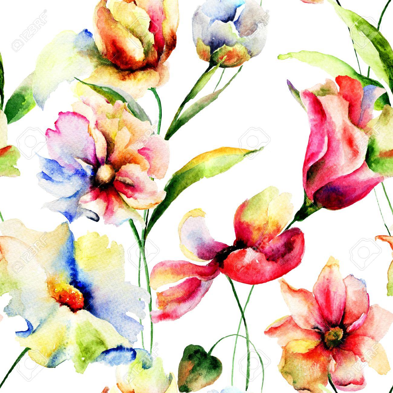 Fondo De Pantalla Transparente Con Flores De Primavera Pintura De