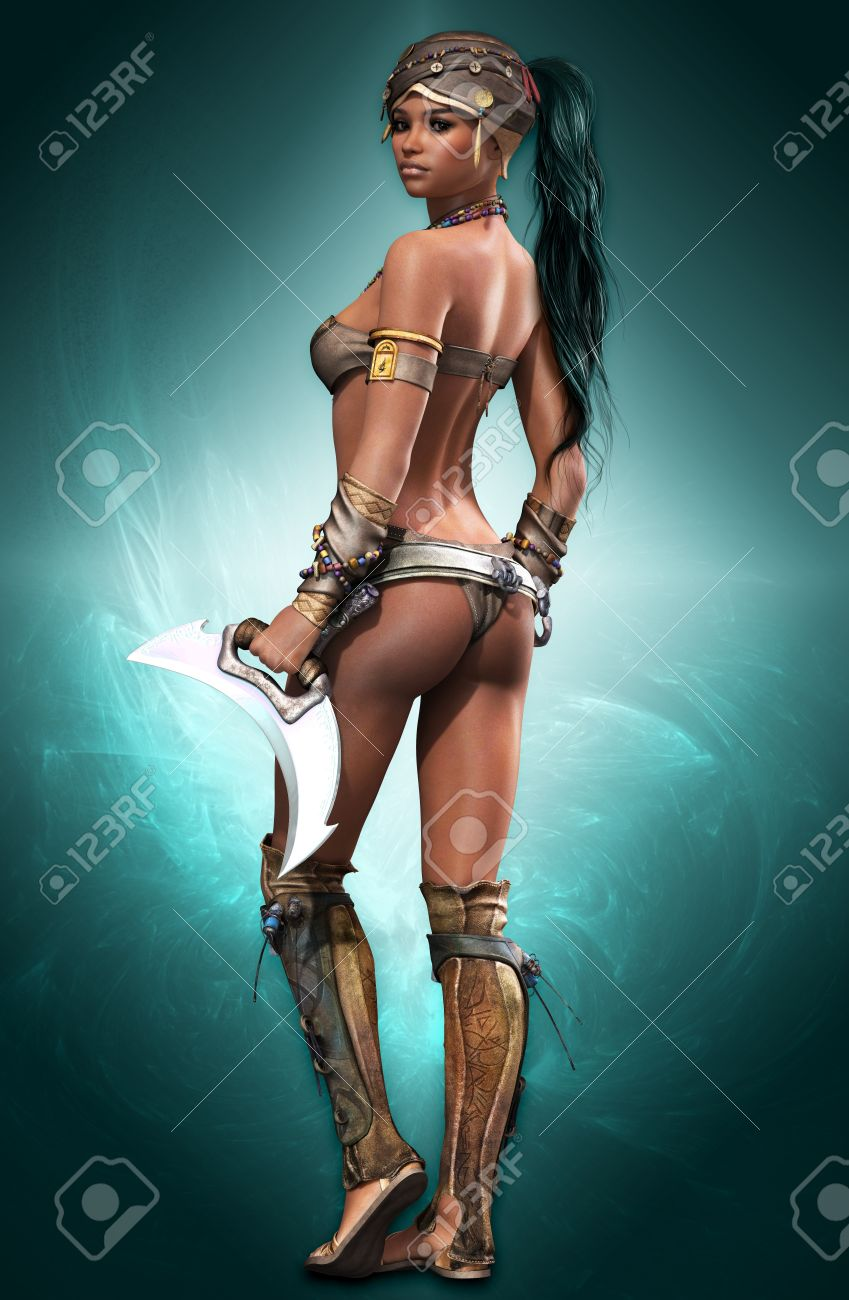 portrait of a female Amazon warrior in fantasy style Stock Photo - 14160555
