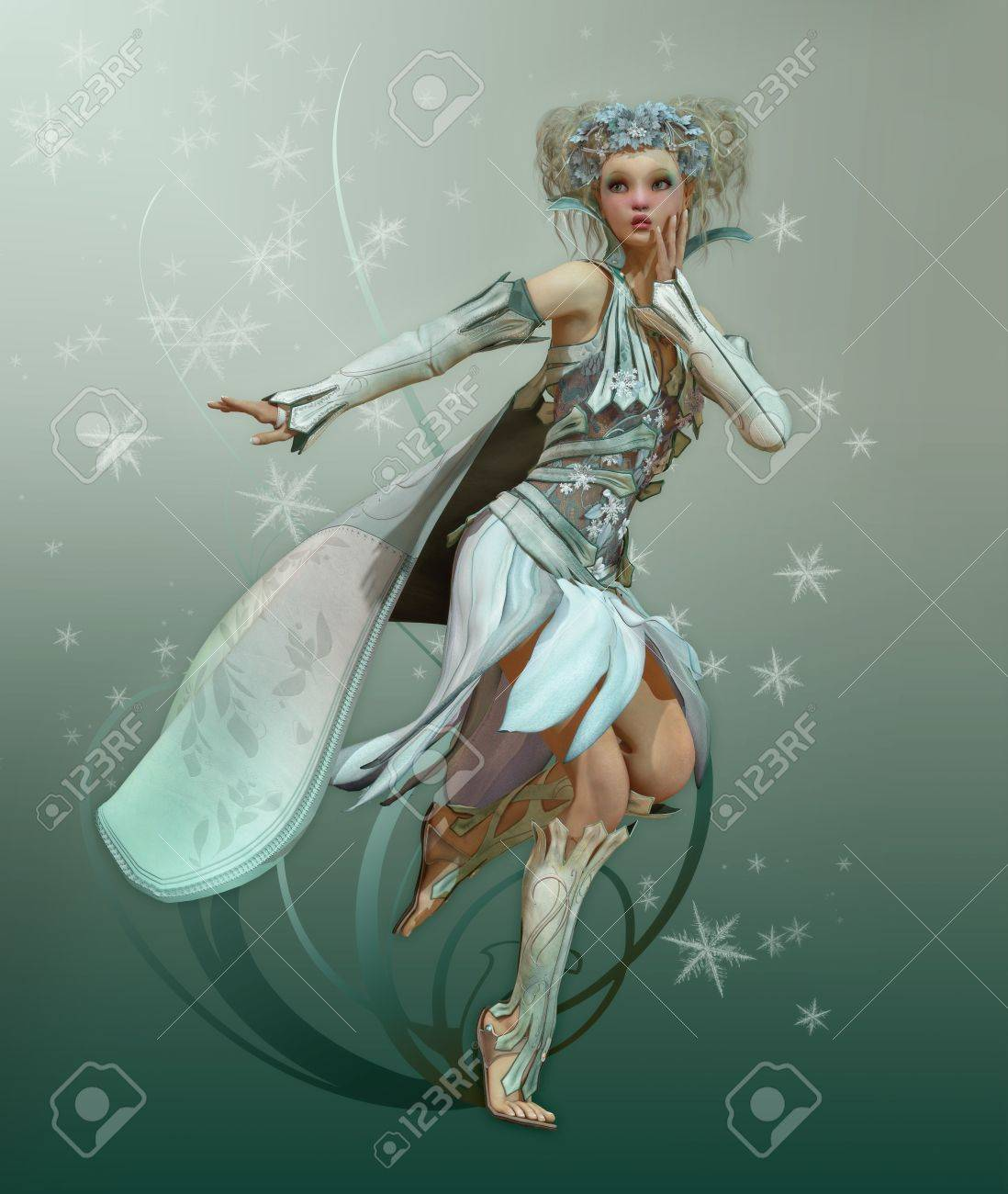 Фея в белом платье