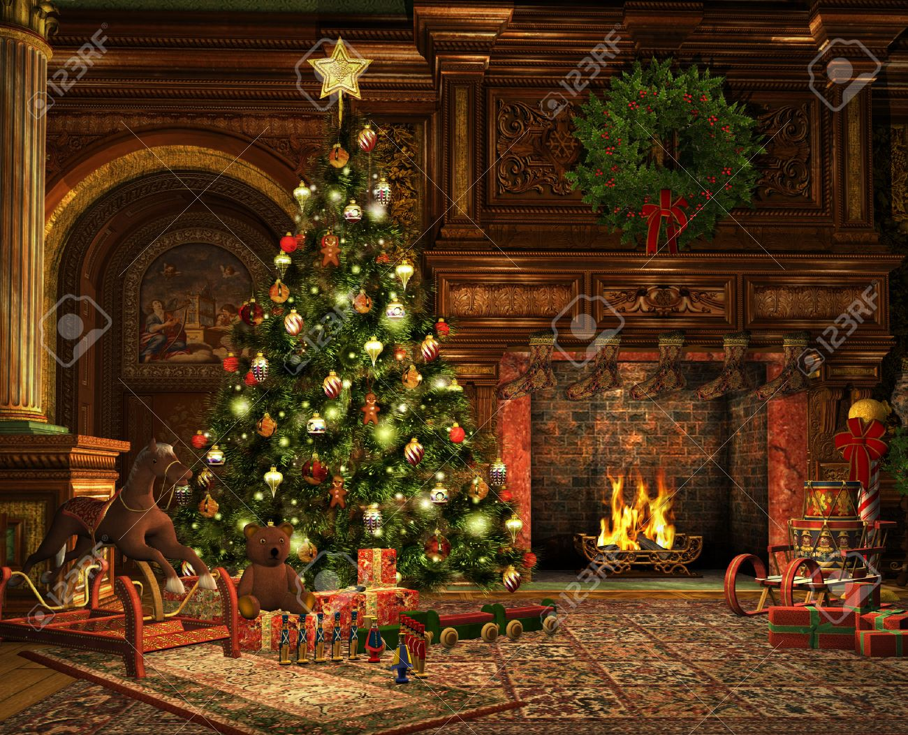 Living Room Decorations For Christmas Christmas Livingroom Magical Christmas Living Room Ideas Archives