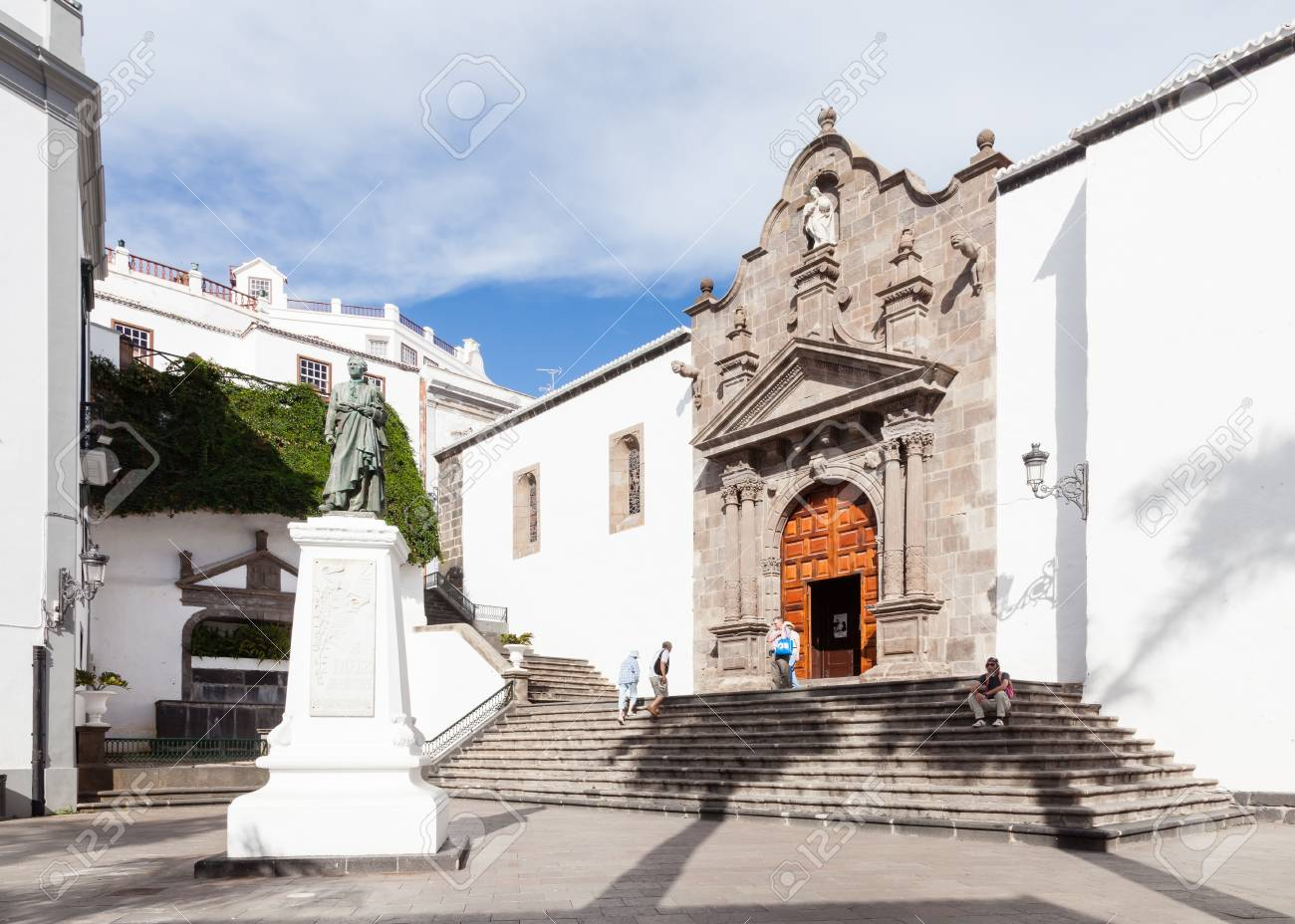 The mother church of el salvador in santa cruz is on the spanish stock photo the mother church of el salvador in santa cruz is on the spanish island of la palma freerunsca Image collections