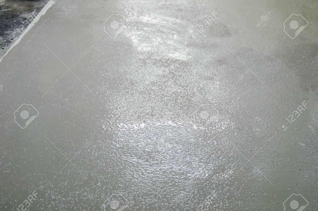 Epoxy Floor Not Dry Stock Photo