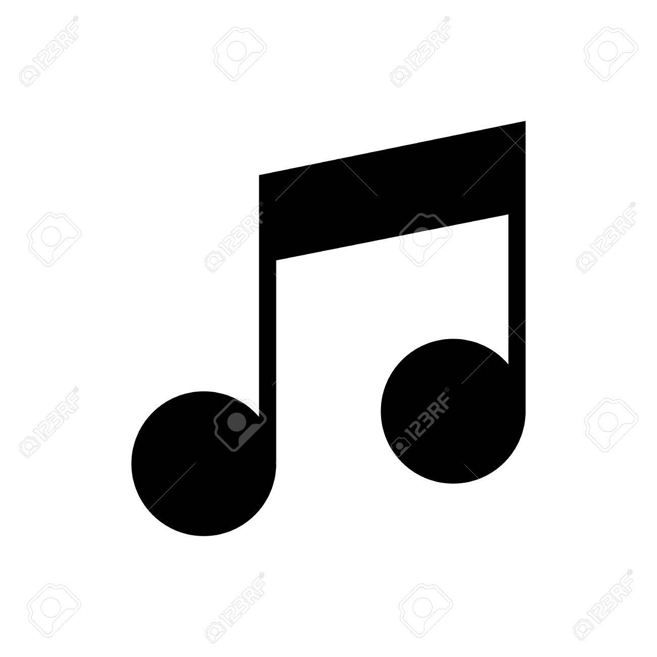 musical note flat icon isolate on white background vector rh 123rf com
